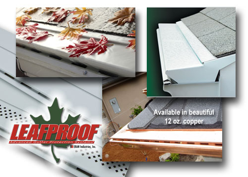 """Leafproof® is a solid aluminum gutter cover that installs over existing gutters without penetrating your roof. The patented """"S-Bend"""" slows the flow of rainwater, causing the water to adhere to the Leafproof® panel."""